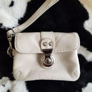 Aldo white change purse wallet